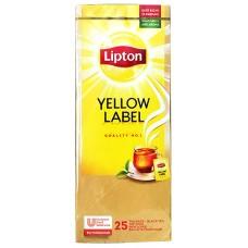 Пакетированный черный чай Lipton Yellow Label (Черный классический) 25 шт