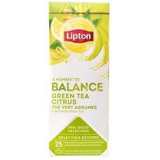 Пакетированный зеленый ароматизированный чай Lipton Green Tea Citrus (Цитрус) 25 шт