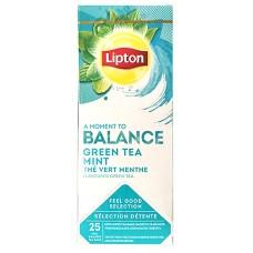 Пакетированный зеленый ароматизированный Lipton Green Tea with Mint (Мята) 25 шт